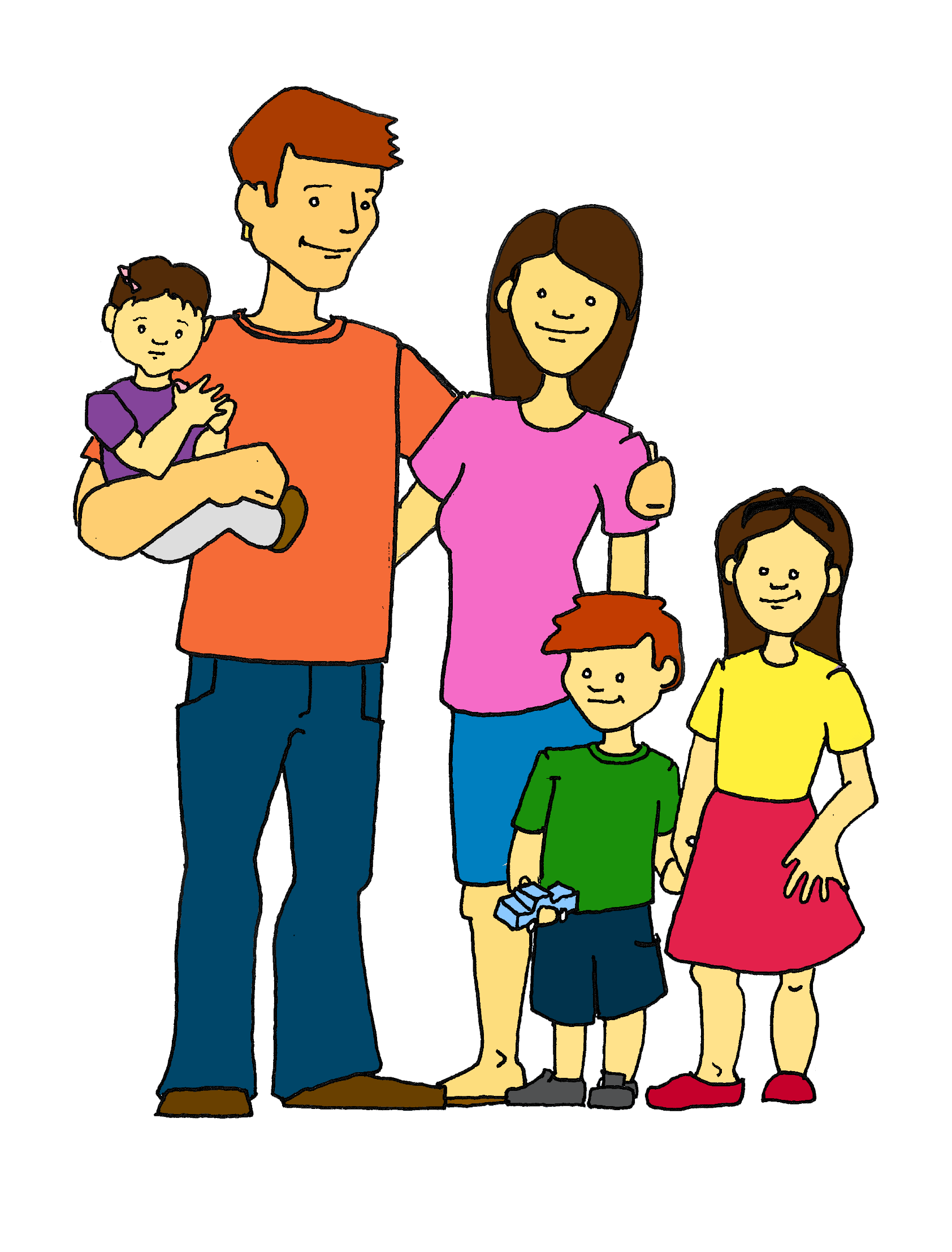 happy family clip art happy family color 2crop rh pelegan org  happy family clipart free